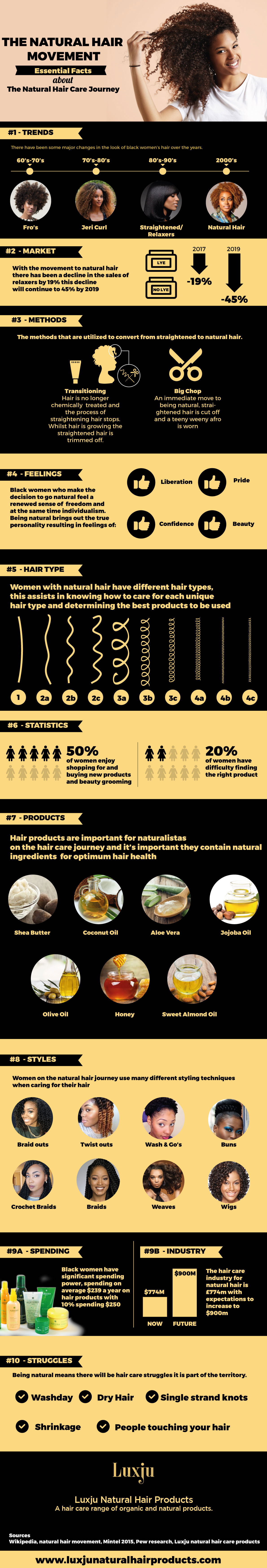 Infographic The Natural Hair Movement & The Natural Hair Care Journey